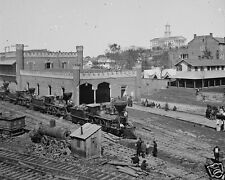 Railroad Depot and Yard Tennessee Capitol Nashville New 8x10 US Civil War Photo
