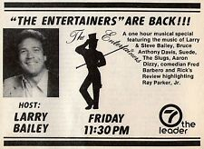 1982 WHIO tv ad ~ LARRY BAILEY hosts THE ENTERTAINERS in Dayton,Ohio/Aaron Dizzy