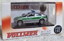 """Vollmer DIE CAST HO BMW 330i """"Polizei"""" metaal rubber banden NIEUW"""
