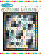 Express Yourself CD Machine Embroidery Applique Quilt by Sarah Vedeler NEW