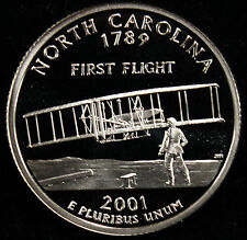 2001-S State Quarter North Carolina Gem Proof DCAM CN-Clad Coin Uncirculated