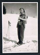 FOTO vintage PHOTO, Frau Winter Ski Schnee woman snow femme hiver neige /114b