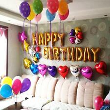 Cute Gold Aluminum Foil Membrane Happy Birthday Letters Party Balloons Hot