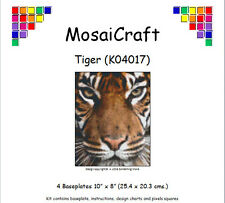 MosaiCraft Pixel Craft Mosaic Art Kit 'Tiger' (Inc. Dove Tail Clips)