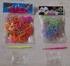 500 élastiques multicolore néon+ phosphorescent loom bands, création bracelets