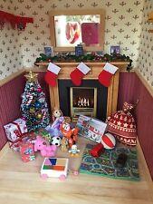 Dolls house miniature 12th scale - Christmas presents/toys decoration set