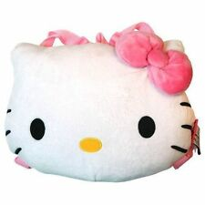 "Backpack 12"" Sanrio Hello Kitty Face Plush With Pink Bow NWT"