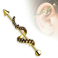 IndustriaL Bar Tentacle Wrapped 316L Surgical Steel Industrial Barbell