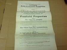 Staffordshire Document, Tamworth Sale Particulars ,Bell Inn ,three Tuns Inn Etc