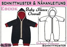 Baby Fleece Overall pdf.Schnittmuster und Nähanleitung  Gr.:50-86 Wagenanzug