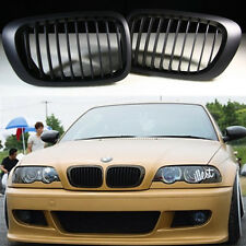 Black Front Kidney Grill Grille for BMW E46 2 Door 2D 3 Series 98-01 Coupe