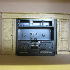 1/12 Dolls House metallo gamma STOVE compresi Surround. dhd455
