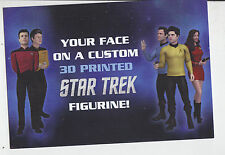 2014 SDCC WONDERCON CUBIFY STAR TREK 3D PRINTING PROMO CARD
