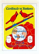 1928 WORLD SERIES PROGRAM COVER PHOTO CARDINALS YANKEES WIN 4 GAMES TO  8x10