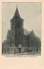 Presbyterian Church in Belle Vernon PA Postcard