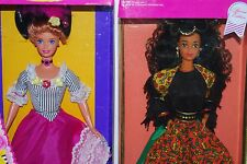 Barbie Spanish 1991 & French 1996 Barbies 2 Dolls Of The World  New In Box