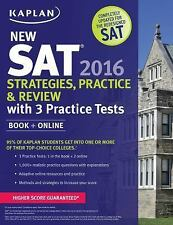 Kaplan Test Prep: New SAT 2016 Strategies, Practice and Review with 3...