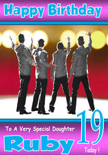 JERSEY BOYS The Musical Personalised Birthday Card 1, ANY NAME ETC..