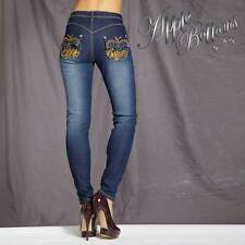 "Brand New Apple Bottoms Skinny Leg Jeans - Dark Blue  - 34""W - 32""L - 8"" Rise"