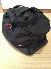 Ralph Lauren Black Nylon RLX large duffle overnight bag