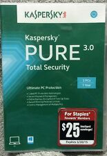 Kaspersky Pure 3.0 Total Security Activation Code for 3 User/1yr