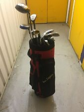FULL SET Of Golf Clubs Irons 3-SW-1/5/7 Woods-Putter-Bag-Balls-Tees-Rh R Flex