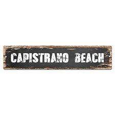 SP0278 CAPISTRANO BEACH Street Chic Sign Bar Store Shop Cafe Home Wall Decor