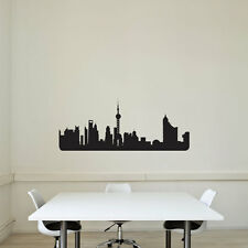 Shanghai City Skyline Vinyl Wall Art Decal for Home Decor / Interior Design /...