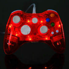 Glow Red LED USB Wired Controller Gamepad For Microsoft Xbox 360 PC Windows 7 10