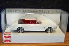 HO Busch 1964 WHITE Ford Mustang Convertible 47500 : 1:87 scale model
