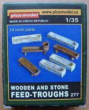 PLUS MODEL #277 Hölzerne und steinerne Futtertröge für Diorama in 1:35