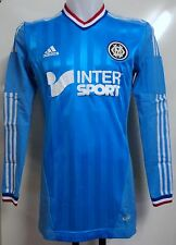 Olympique marseille player issue 2012/13 l/s techfit away shirt par adidas large