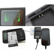 LCD Screen USB AC Phone Battery Wall Charger For Samsung Galaxy S i9000 S2 i9100