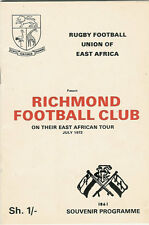 RICHMOND TOUR OF EAST AFRICA 1972 ENGLAND RUGBY BOOKLET POSSIBLY PROGRAMME