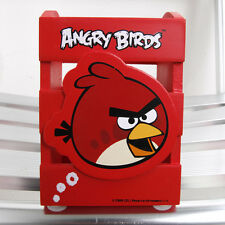 New ANGRY BIRDS Pen Holder Stationery Wooden case Red Case Desk Organizer Box