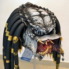 Predator motorcycle helmet. Exclusive custom made. DOT & ECE certified. Cosplay.