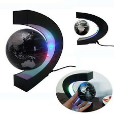 LED GLOBE WORLD MAP Lamp Table Desk Top Office Rotating Magnetic Bedroom Light