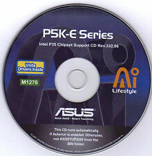 ASUS P5K-E LGA and WIFI Motherboard Drivers Installation Disk M1278