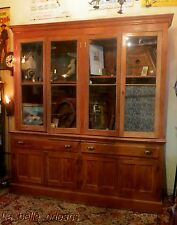 ANTIQUE LOUISIANA 19THc CYPRESS APOTHECARY STORE CABINET. MUST SEE!!