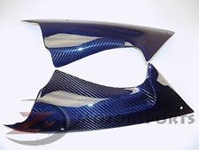 BLEMISH 2008-2016 Yamaha R6 Upper Dash Cover Panel Fairing Carbon Fiber Blue