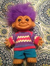 """Vintage 17"""" Tall Russ Collection Troll Doll item # 18485 Rare Large Troll"""