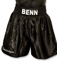 "*New Rare* Conor Benn ""Destroyer"" Signed Custom Made Boxing Trunks"