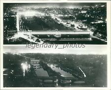 1936 View of Paris Before and After Air Raid Alarm Original News Service Photo