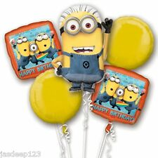 Despicable Me Minion Bouquet Foil Helium Balloon Display Party Table Centrepiece