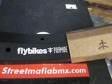 "FLY BIKES PIRAMIDE 20"" Rim BLACK 18.8oz. double walled Fit BMX BIKES Shadow NEW"