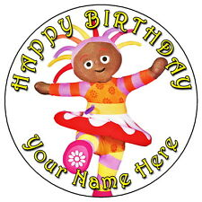 """IN THE NIGHT GARDEN UPSY DAISY FUN - 7.5"""" PERSONALISED EDIBLE ICING CAKE TOPPER"""
