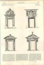 1862 Specimens Of Doors A De Cerceau Curvilineal Finish 16th Century Artwork