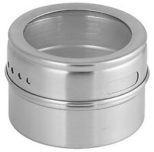 Magnetic Stainless Steel Jar Spices Seasoning Cook Fresh Salt Pepper Kitchen