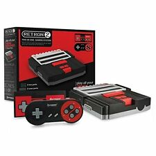 Hyperkin RetroN 2 SNES / NES Video Games Twin Console (Black) NEW