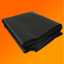 4M X 5M 250G BLACK HEAVY DUTY POLYTHENE PLASTIC SHEETING GARDEN DIY MATERIAL